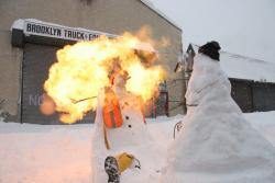 New York class project Toasty the Snowman